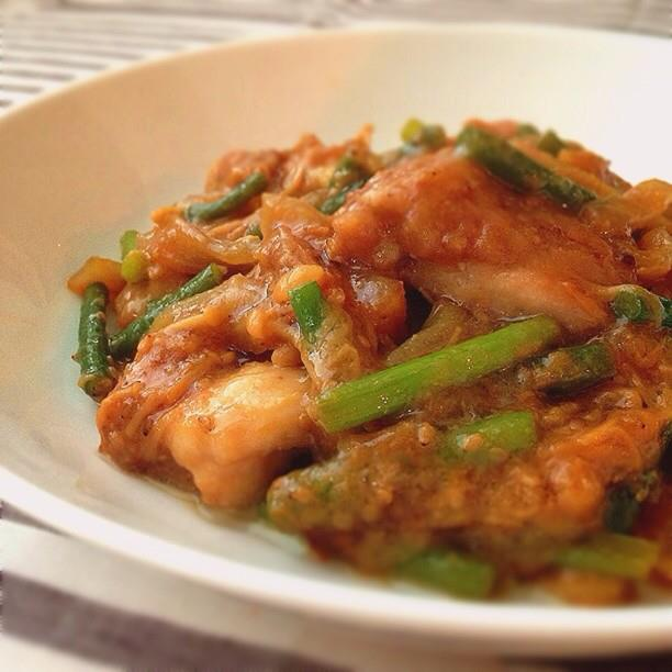 Miso chicken, let your microwave do a job!