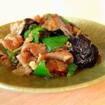 Stir-fried eggplant and pork with Miso
